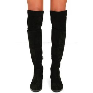 LFL Shoes - LFL RAMSEY KNEE HIGH LACE UP BOOTS